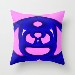 Pink Life Overlay Throw Pillow