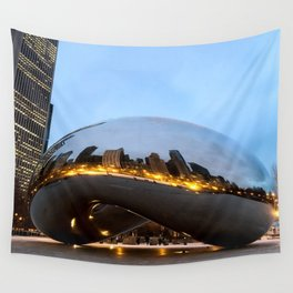 City on Fire  Wall Tapestry