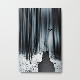 dark promise - raven Metal Print
