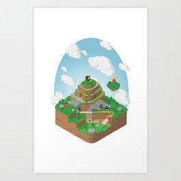 Bob-Omb Battlefield (Mario 64) Isometric Art Print