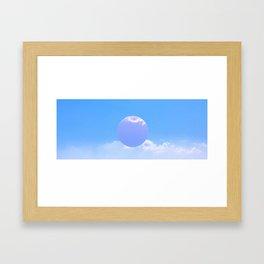 sun moon Framed Art Print