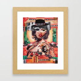 Amour rouge corail Framed Art Print