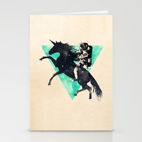 Ride the universe Stationery Cards