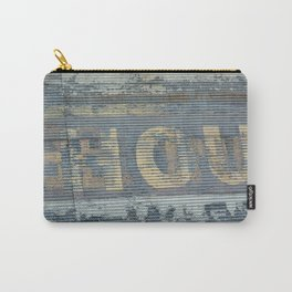 Warehouse District -- Rustic Country Chic Abstract with Letters Carry-All Pouch