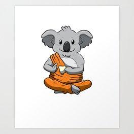 Keep Calm And Love Koalas Shirt Meditation Peaceful Koala Art Print