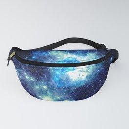 Galaxy NEbula. Teal Turquoise Blue Aqua Fanny Pack