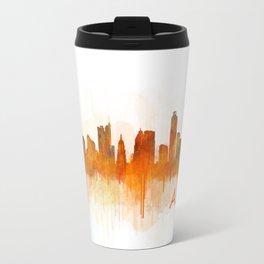 Austin Texas, City Skyline, watercolor  Cityscape Hq v3 Travel Mug