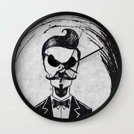 Skellington Geek Wall Clock