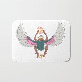 Pink/Green Scarab Bath Mat