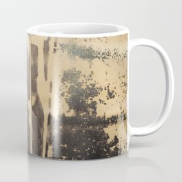 Ink drawing - edges of two abstract prints Coffee Mug