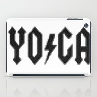 yoga iPad Cases featuring Yoga by InstantKarma