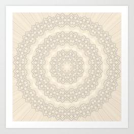 tan circle pattern Art Print