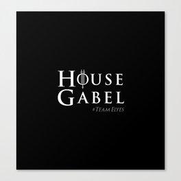 House Gabel - original black Canvas Print
