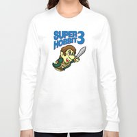 hobbit Long Sleeve T-shirts featuring Super Hobbit by TyrannosaurusRy