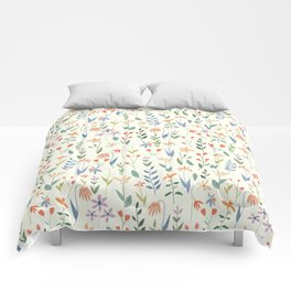 Wildflowers in the Air Light Comforters
