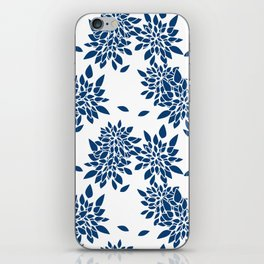 Blue abstract flowers . 2 iPhone Skin