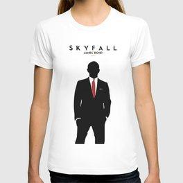 Skyfall, James Bond,minimalist design , alternative poster, Daniel Craig, Javier Bardem, Sam Mende T-shirt