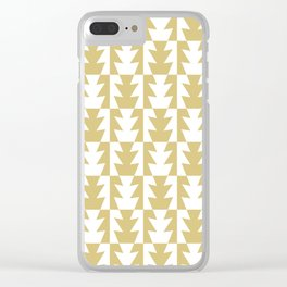 Art Deco Jagged Edge Pattern Gold Clear iPhone Case