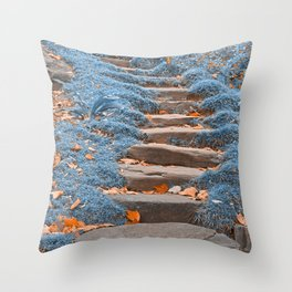 Sapphire Stepping Stones Throw Pillow
