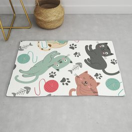 Cute Cats pattern Rug