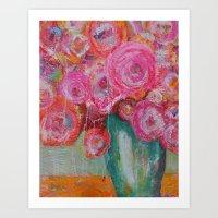 Happy Bouquet Art Print