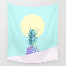 Tropical Pineapple Sunkissed #decor #popart #minimalist Wall Tapestry