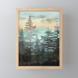 Pine Trees Framed Mini Art Print