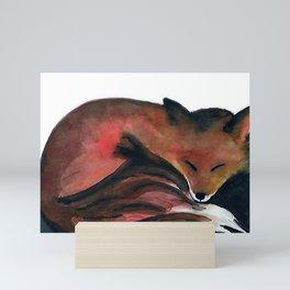 cozy foxy Mini Art Print