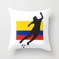 colombia Throw Pillows featuring Colombia - WWC by Alrkeaton