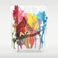 squirrel Shower Curtains featuring Squirrel by Halfmoon Industries
