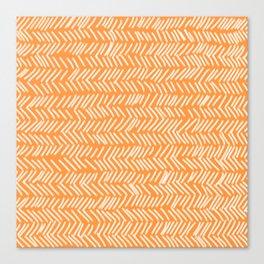 Sherbet Herringbone Lines Canvas Print