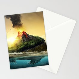 Fairytale Fable Sea Reptile Magma On Back Dreamy UHD Stationery Cards
