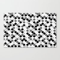 morrocan Canvas Prints featuring Grey Morrocan Graphic Tiles Pattern by stickerzlab