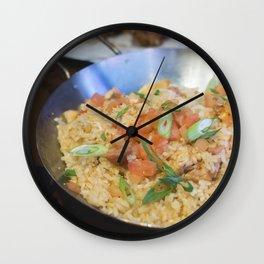 Chilli risotto with shrimp Wall Clock