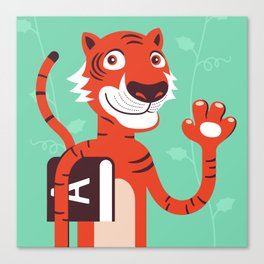 The little tiger goes to school Canvas Print