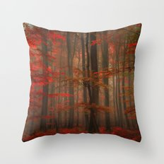 Enchanting Red Throw Pillow