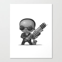 Lil Men In Black Canvas Print