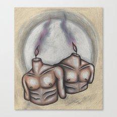 Olive White Canvas Print