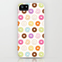 Happy Cute Donuts Pattern iPhone Case