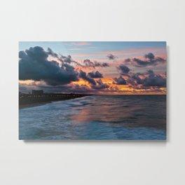 Surf City / Huntington Beach Sunrise  11/1/14 Metal Print