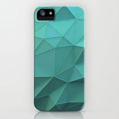 Teal Low Poly Sphere Slim Case iPhone (5, 5s)