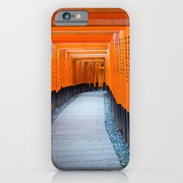 The famous arches of the Fushimi Inari Shrine or the Kyoto Fox Shrine | Travel photography Japan iPhone Case