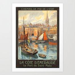 Emerald Coast 01 - Vintage Poster Art Print