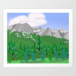 Mount Rundle (Middle Peaks) # 2 Art Print