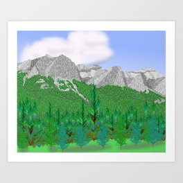 Mount Rundle (Middle Peaks) # 2 Art Print