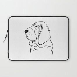 Bloodhound (Black and White) Laptop Sleeve