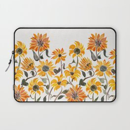 Sunflower Watercolor – Yellow & Black Palette Laptop Sleeve