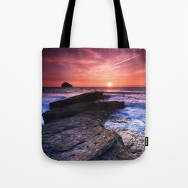 The Sun Goes Down Tote Bag