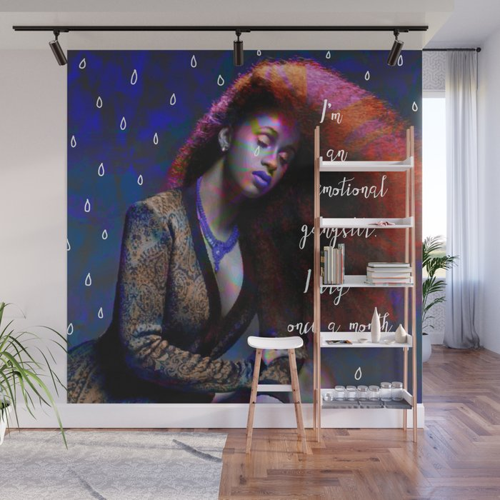 Cardi B - emotional gangster quote Wall Mural by mintzy | Society6
