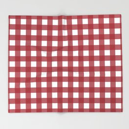Harvest Red Gingham Throw Blanket